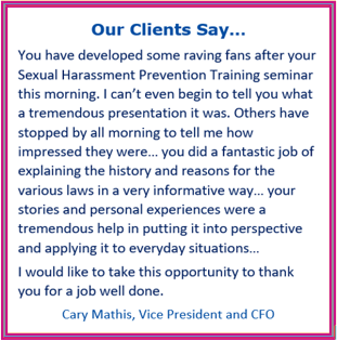 harassment prevention training california, discrimination training california