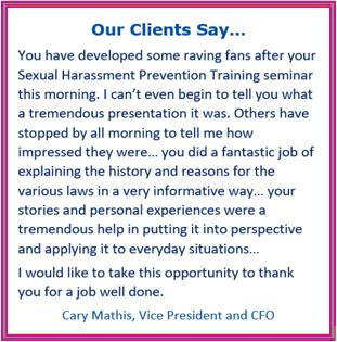 harassment prevention training california, discrimination training california